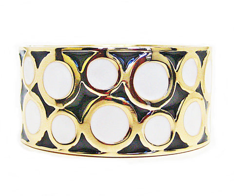 Odile Cuff Bracelet in Black/White