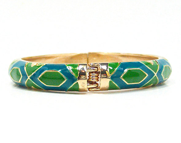 Anika Bracelet in Bright Green and Teal - JulRe Designs LLC