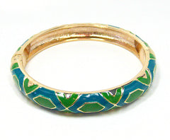 Anika Bracelet in Bright Green and Teal