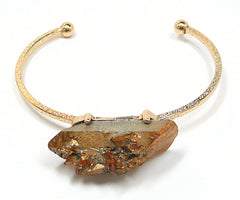 Odette Thin Stone Bracelet in Iridescent Gold