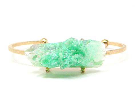 Odette Thin Stone Bracelet in Iridescent Mint