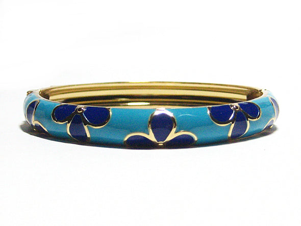 Flora Bracelet in Navy Blue and Turquoise - JulRe Designs LLC