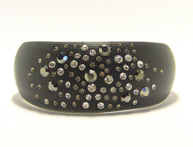 Ella Cuff Bracelet in Black Smoke - JulRe Designs LLC