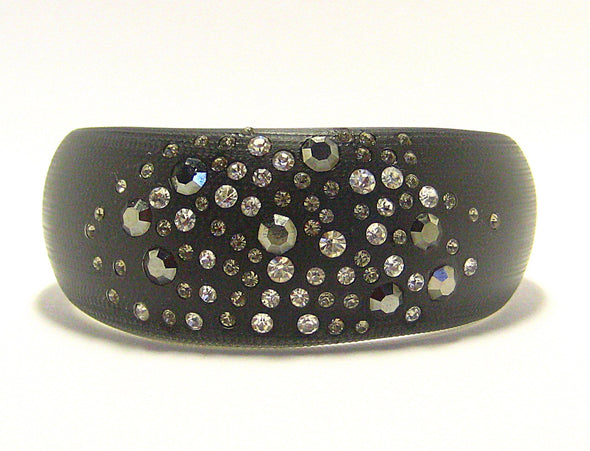 Ella Cuff Bracelet in Black Smoke