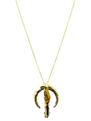 Kayla Pendant Necklace in Iridescent Gold