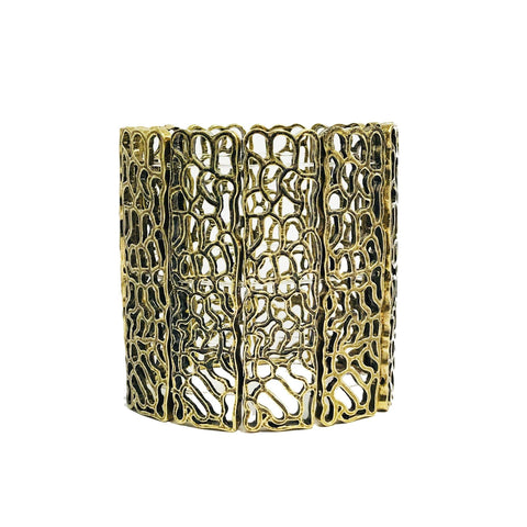Julisa Cuff Bracelet in Antique Gold