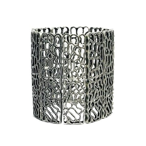 Julisa Cuff Bracelet in Antique Silver