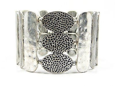 Loriann Stretch Cuff Bracelet in Silver