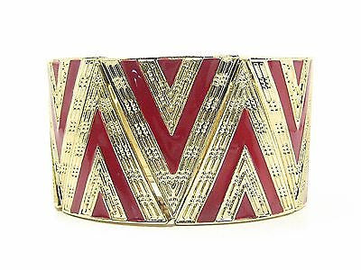 Yourina Stretch Cuff Bracelet in Red
