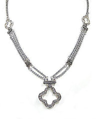 Joelle Pendant Necklace in Silver