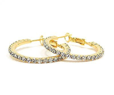 Kaysha Hoop Earrings in Gold