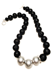 Lava Love Necklace No. 1 in Black and Silver