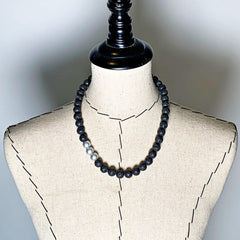 Lava Love Necklace No. 2 in Black and Silver