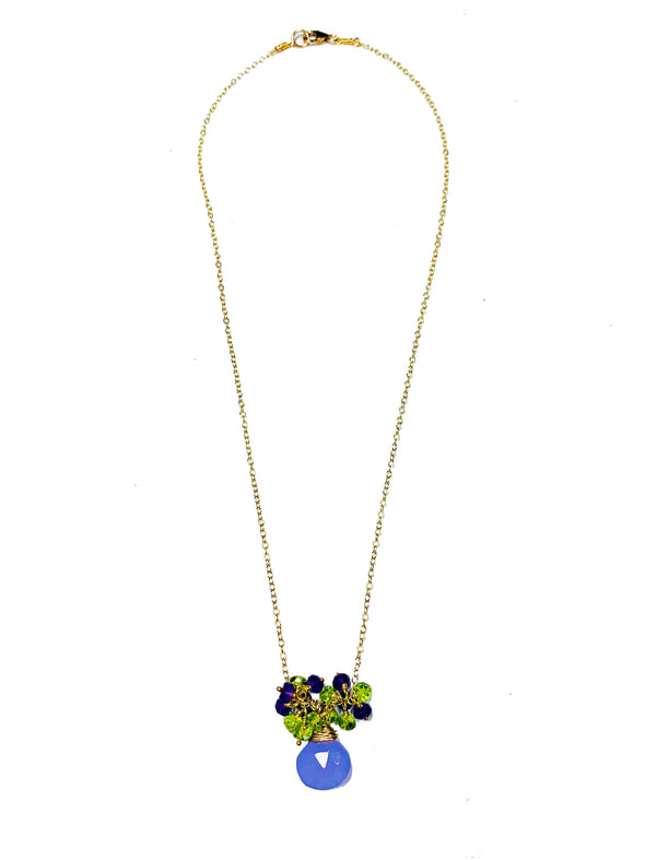 Lavender Love Chain Necklace