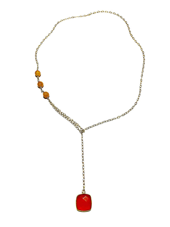 Modern Lariat Necklace No. 12 - JulRe Designs LLC