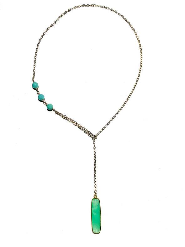 Modern Lariat Necklace No. 14 - JulRe Designs LLC