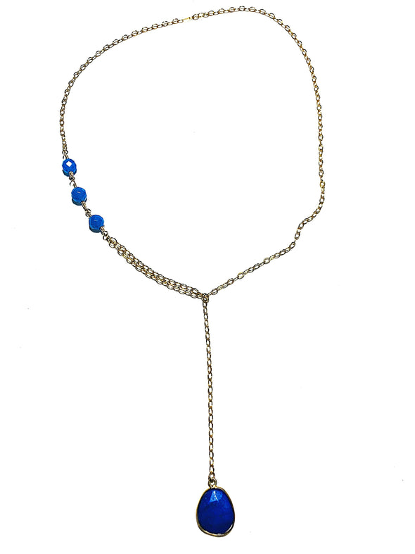 Modern Lariat Necklace No. 15 - JulRe Designs LLC