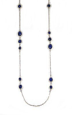 Jacquie Long Necklace in Navy Blue