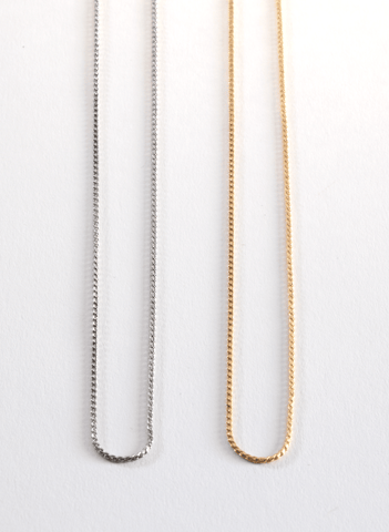 "Neck Chains 18"" Silver or Gold"