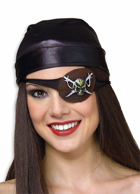 Eye Patch with Skull Design