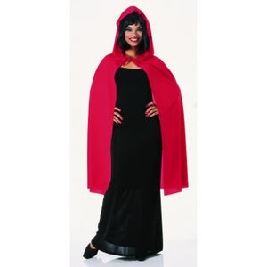 "45"" Red Hooded Cape"