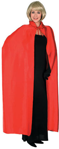 Long Red Satin Cape