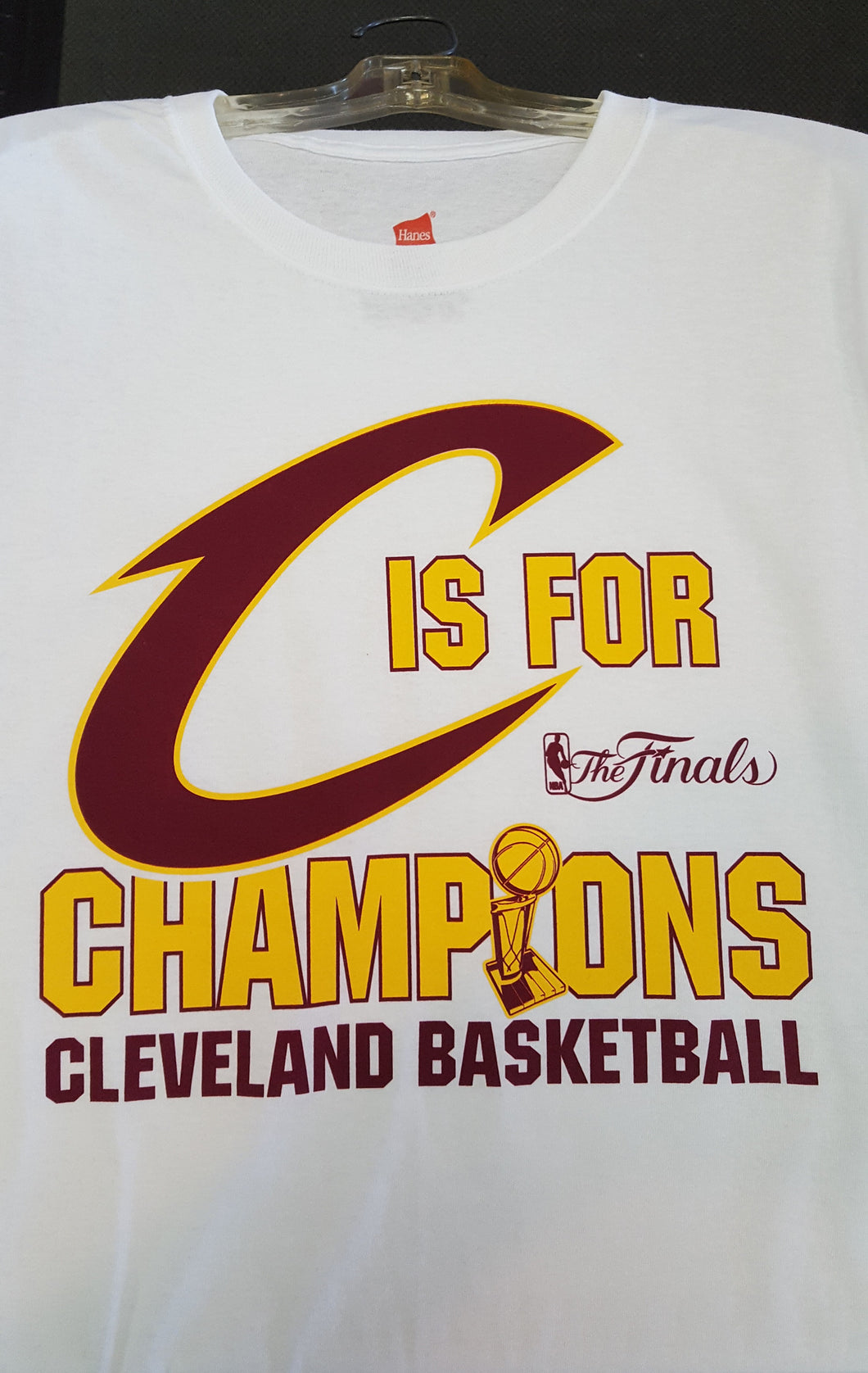 C is for Champions Cavs White Shirt