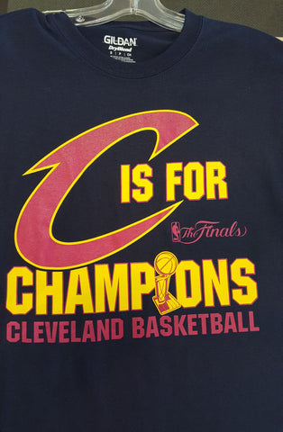C is for Champions Cavs Navy Shirt