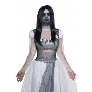 Ghost Mask with Wig