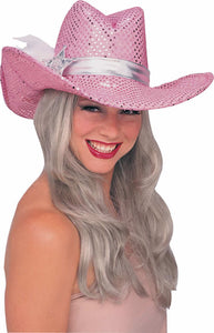 Pink Sequin Cowgirl Hat