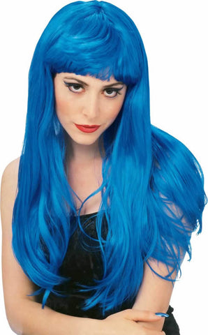 Glamour Blue Wig
