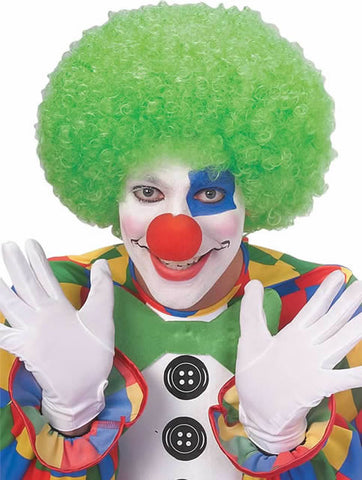 Clown Neon Green Afro Wig