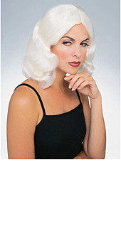Flowing White Wig