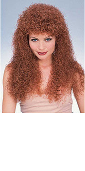 Curly Long Auburn Wig
