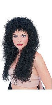Curly Long Black Wig
