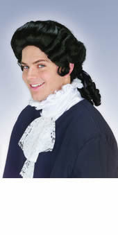 Colonial Man Black Wig