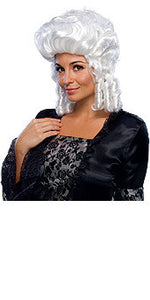 Colonial Woman White Wig