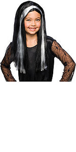 Witch Youth Black/Grey Wig
