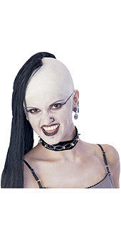 Bald Cap with Black Wig