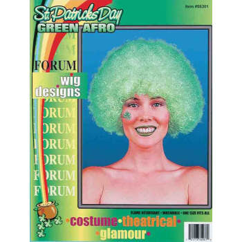 Clown Green Afro Wig