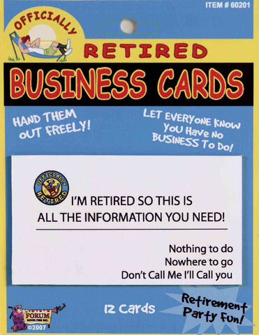 Retired Business Cards