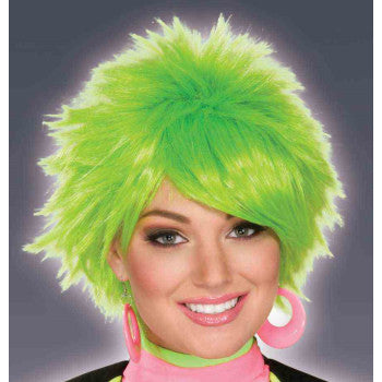 80's Green Pixie Wig