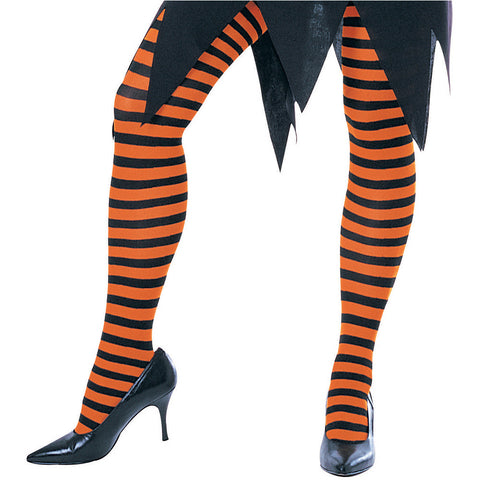Tights - Youth Orange/Black Striped