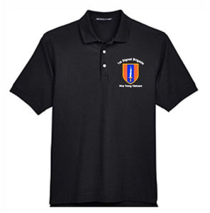 Military 1st Signal Brigade Polo Sizes S-XL