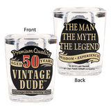 Vintage Dude Milestone Shot Glass 50