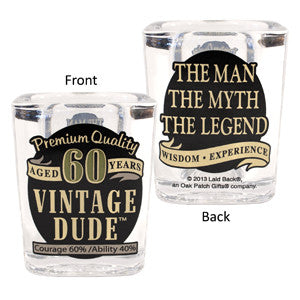 Vintage Dude Milestone Shot Glass 60