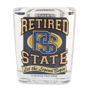 Retired State Shot Glass Legend