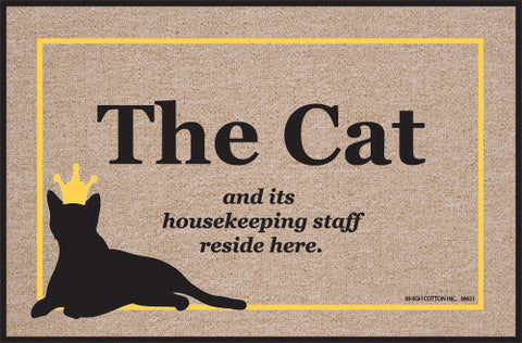 Doormat - Cat Lives Here