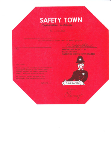 Safety Town Certificates