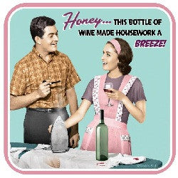 Housework Wine Coaster